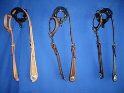 One-ear headstall, dots & star concho