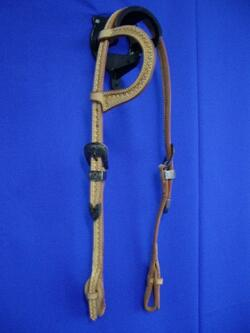Headstall one-ear antique buckles quick release
