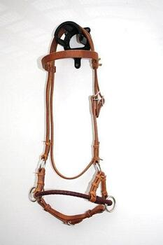 Side Pull - Braided Leather Noseband