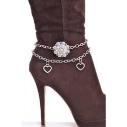 RHINESTONE STUDDED BERRY BOOT CHAIN