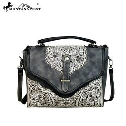 Montana West Concho Collection Top Handle Crossbody