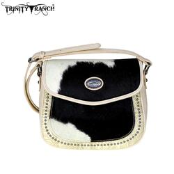 Trinity Ranch Tooled Hair-On Leather Collection Saddle Bag