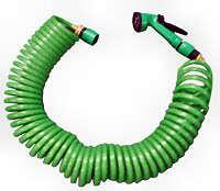 Coil up hose 7,5m flexible with spray-head