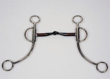 Shanked Snaffle Bit - Stainless Steel