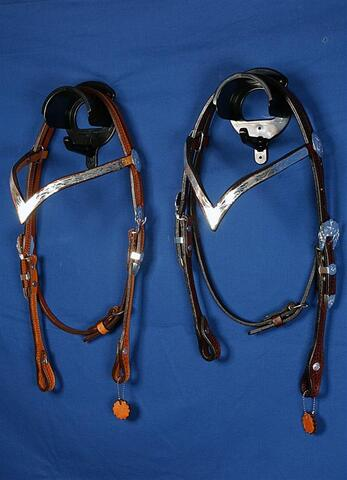 Show headstall V-brow in silver