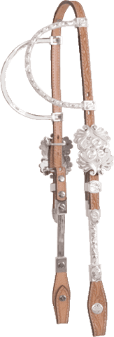 Show headstall double tube-ear deluxe