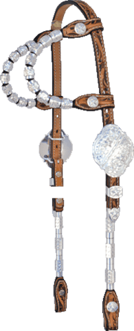 Show headstall double ear deluxe
