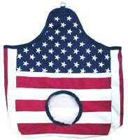 Hay bag USA flag design