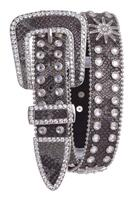 SPURS RHINESTONE STUDDED LEATHER BELT