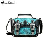 Montana West Tooled Collection Messenger Handbag